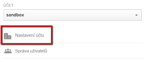 Nastavení účtu Google Analytics
